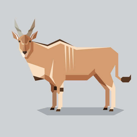 Vector image of the Flat geometric Common Eland Imagens - 99603071