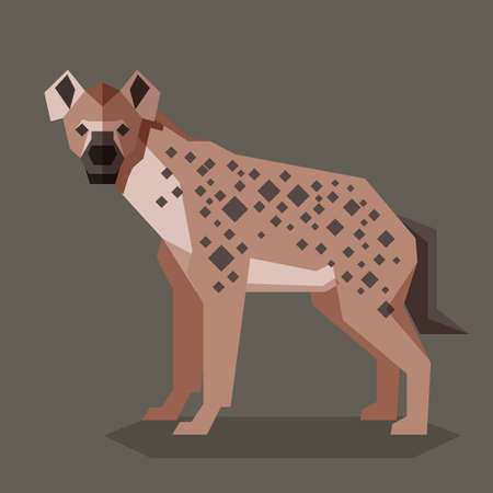 Vector image of the Flat geometric Hyena