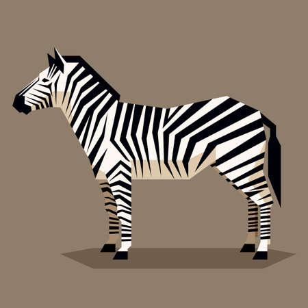 Vector image of the Flat geometric Zebra