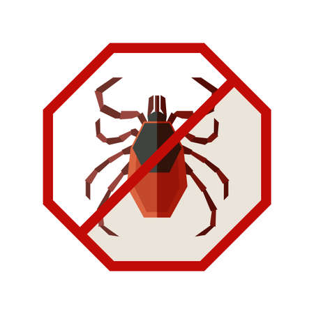 Vector image of the Flat geometric sign with Tick Illustration