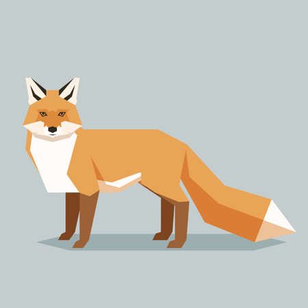 Vector image of the Flat geometric fox