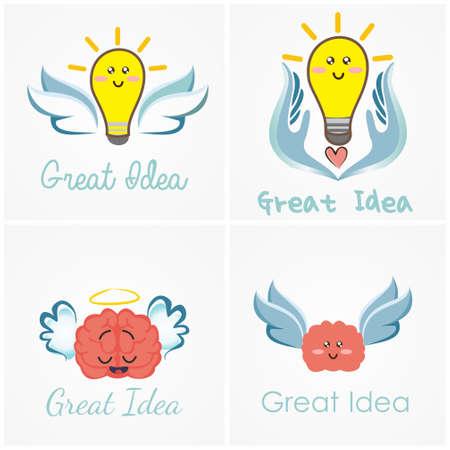 グループ クリップ アート ロゴ素晴らしいアイデア  イラスト・ベクター素材