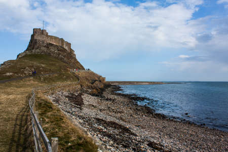 anglo saxon: Lindisfarne castle,United Kingdom