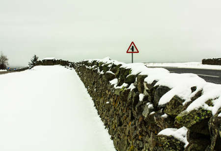 Snow wall,United Kingdom photo