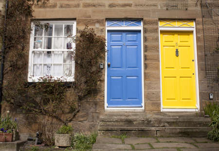 Blue and Yellow door color
