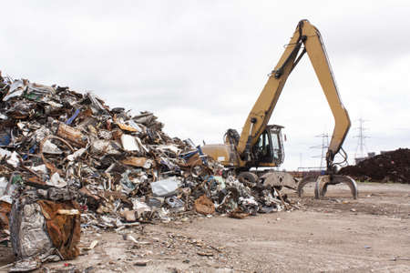 Scrap for recycling in steel making plan  Stock Photo