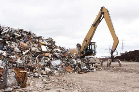 steel making: Scrap for recycling in steel making plan  Stock Photo