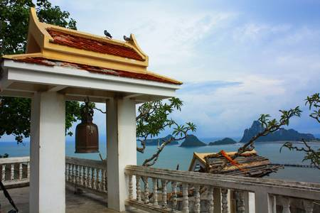 peal: Small belltower in the temples, Thailand