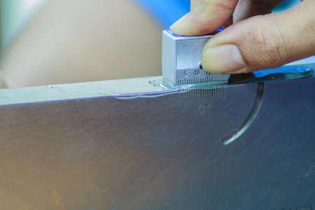 test probe: Calibration standard probe of ultrasonic test in laboratory