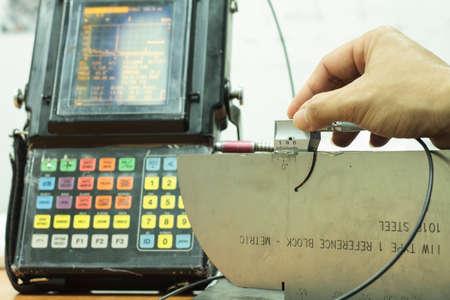 soldadura: Calibraci�n de la sonda est�ndar de prueba ultras�nica en el laboratorio
