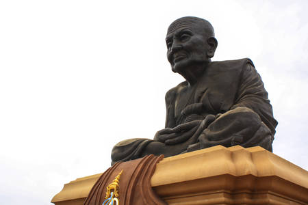 pu: Statue of Luang Pu Thuat at Wathuaymongkol, Thailand