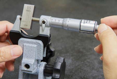 calibration: Calibration micrometer in laboratory