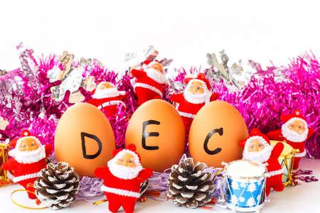 december kalender: Monthly calendar - December Stockfoto