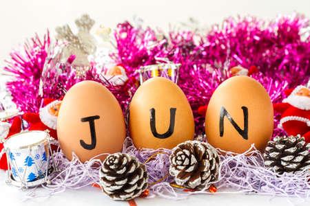 Monthly calendar - June Stock Photo