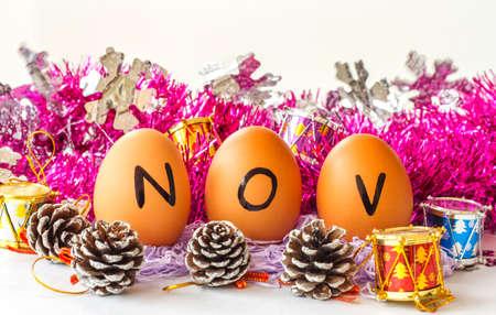 Monthly calendar - November Stock Photo