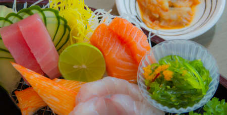 Sushi Is The Japanese Food, Preparation And Serving Of Specially Prepared Vinegared Rice Combined With Varied Ingredients.