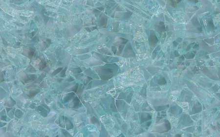 Pieces of broken glass texture background.