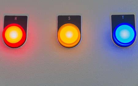 Lighting on control panel of machine.