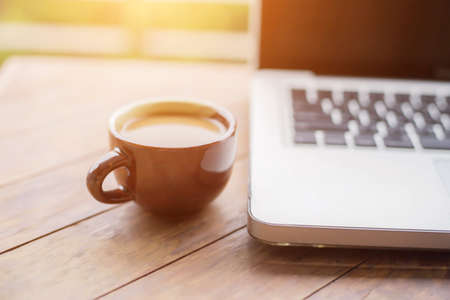 Coffee at the desk