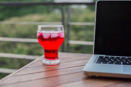 Red beverage Stock Photo