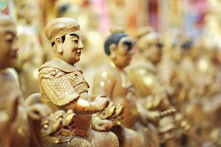 hoariness: Chinese Taoist statue Stock Photo