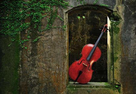 poezie: monument gevlekt venster en cello