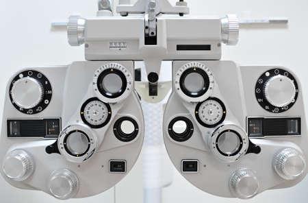 shortsightedness: Optometry machine vision Stock Photo