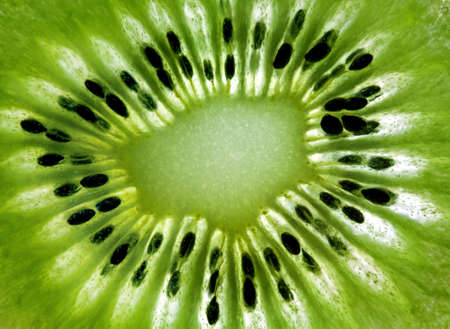kiwi fruta: Los kiwis perfil close-up