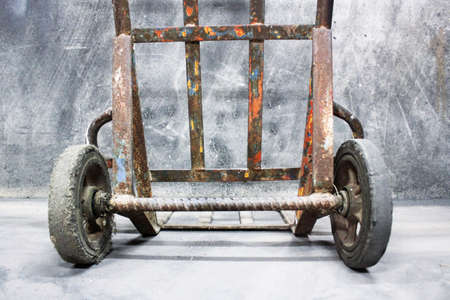Trolley 2 wheels, Two wheel cart for transporting items Stock Photo