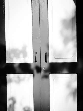 Beautiful doors, European style antique doors in Ayutthaya, Thailand, background doors for text input Stockfoto