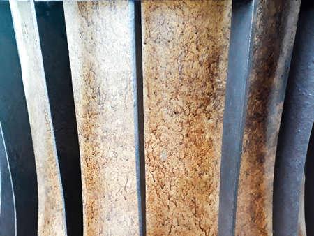 metal surface golden for background, metal background, metal surface for background, metal background, Golden curved metal surface, decorative panels closeup, metal background Stock fotó