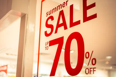 store sign: store summer sale sign Stock Photo