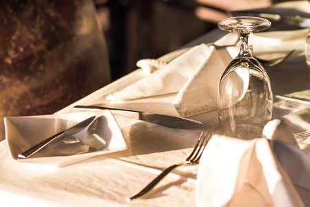 feier: Bankett-Tischen in einem Restaurant Einstellung Lizenzfreie Bilder