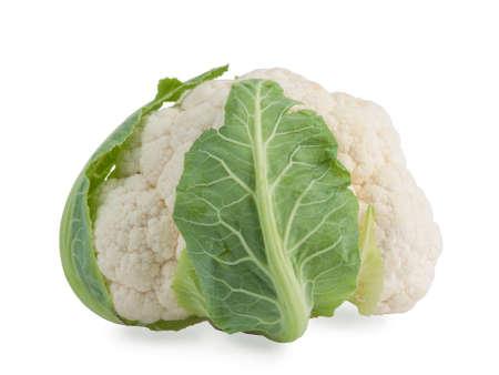 cruciferous: Cauliflower isolated on white background Stock Photo