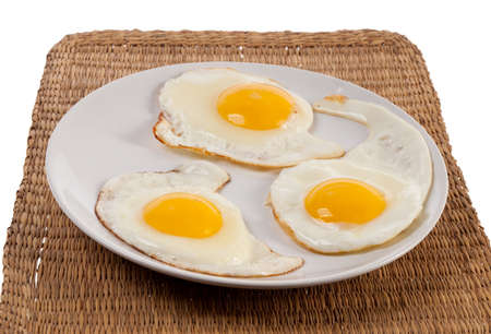 sunny side: Fried eggs sunny side up Stock Photo