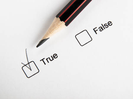 Checked true not false, check box and pencil