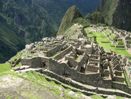 peru architecture: Temple architecture of Machu Picchu in Peru