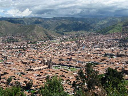 urubamba valley: Cusco cityscape view in Peru