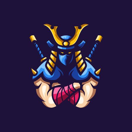 Samurai logo esport awesome illustration