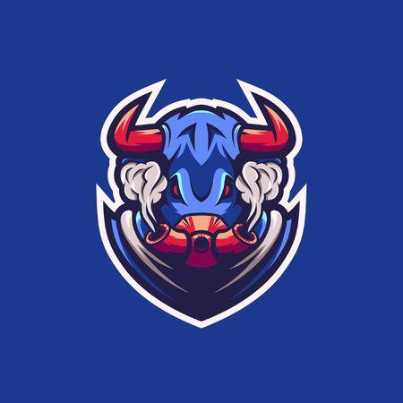 Bull premium vector