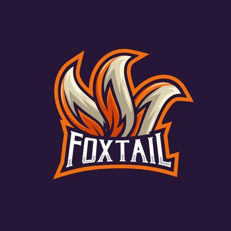 Fox tails esport logo unique