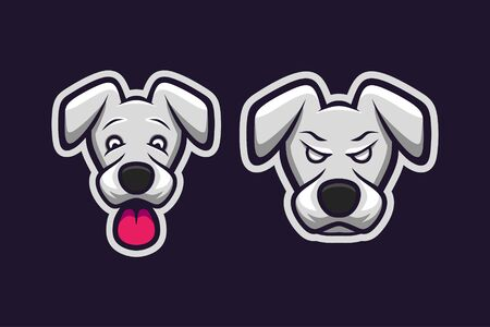 Dog mascot logo design Çizim