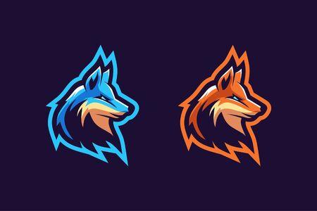 Fox mascot logo design Çizim