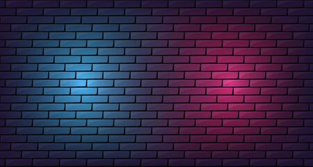 Brick neon glow wall room background