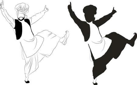 Punjab Dance Illustration