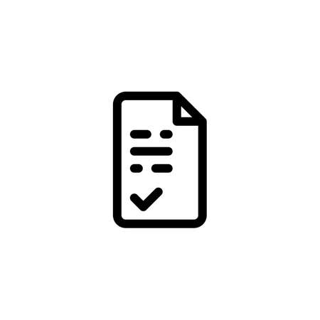 Set of Scientific Paper Academic Journal Glyph style icon and illustration - vector 일러스트