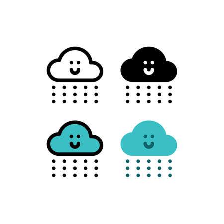 Rain Rainfall Cloud Weather Outline Icon