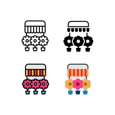 Smartphone Function as flower shop online Icon, Logo, and illustration