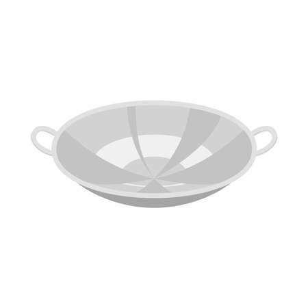 Illustration vector of a frying pan