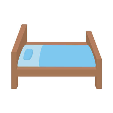 Illustration vector of a bed